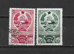 URSS - 1941 - N. 834/35 USATI (CATALOGO UNIFICATO) - 1923-1991 USSR