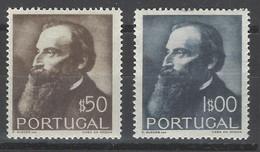Portogallo - 1951 - Nuovo/new MH - Junqueiro - Mi N. 758/59 - Ongebruikt