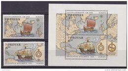 Europa Cept 1992 Faroe Islands 2v + M/s ** Mnh (49934) ROCK BOTTOM - Europa-CEPT