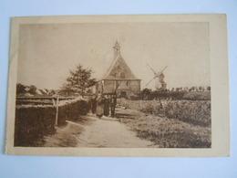 Schilderij Tableau Le Retour De L'office Molen Moulin église Kerk - Malerei & Gemälde