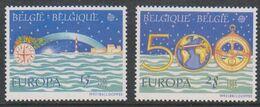 Europa Cept 1992 Belgium  2v ** Mnh (49936) GALAXY PRICE - Europa-CEPT