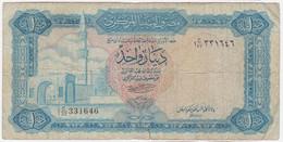 Libya P 35 B - 1 Dinar 1972 - C/32 331646 - Libya