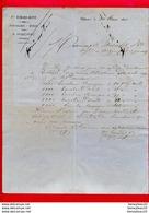 FACTURE (C 973) Vve EYMARD-DUPIN QUINCAILLERIE ÉPICERIE A RIBÉRAC  (Dordogne) - 1800 – 1899