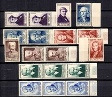 France Grands Hommes 1953 YT N° 945/950A (3) Neufs ** MNH. TB. A Saisir! - Neufs