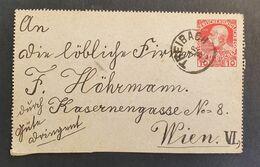 Kaiserreich 1909, Kartenbrief 10H, TREIBACH - Covers & Documents