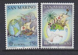 Europa Cept 1992 San Marino  2v ** Mnh (49938H) ROCK BOTTOM - Europa-CEPT