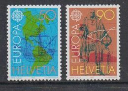 Europa Cept 1992 Switzerland 2v ** Mnh (49938J) ROCK BOTTOM - Europa-CEPT