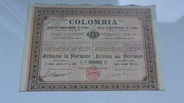 COLOMBIA  Franco-roumaine De Pétrole - Actions & Titres
