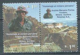 Pérou YT N°1225/1226 Hommage Aux Mineurs Péruviens (Paire Se-tenant) Neuf ** - Peru