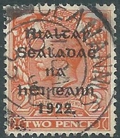 1922 IRELAND USED SG12 - RD5-5 - 1922 Governo Provvisorio