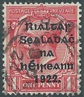 1922 IRELAND USED SG27 - RD5-5 - 1922 Governo Provvisorio