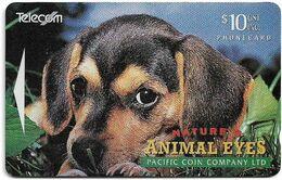 New Zealand - NZT (GPT) - Dealer Cards 1994 Animals Eyes, Dog (Collectors Issue '94), 1994, 10$, 3.000ex, Used - Nuova Zelanda