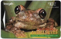 New Zealand - NZT (GPT) - Dealer Cards 1994 Animals Eyes, Frog (NOT Collectors Issue), 1994, 10$, 7.500ex, Used - Nuova Zelanda