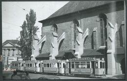 Photo - Suisse (V.D.) - Lausanne - Tramway Devant L'Eglise Réformée De Saint-François - Voir 2 Scans - Tram