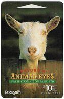 New Zealand - NZT (GPT) - Dealer Cards 1994 Animals Eyes, Goat (Collectors Issue '94), 1994, 10$, 3.000ex, Used - Nuova Zelanda