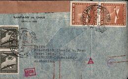 ! 1941 Luftpostbrief  Aus Santiago De Chile Nach München Schwabing , OKW Zensur, Censor, Censure - Cile