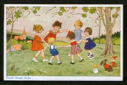 Germany Old Postcard AK Fritz Baumgarten. Ringel, Ringel, Reihe - Children, Dolls, Mice - Baumgarten, F.