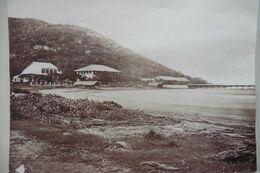 Grande Photo Albuminée Plage Cap Saint Jacques Cochinchine Indochine Vers 1870 - Old (before 1900)