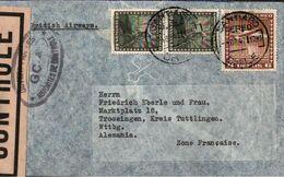 ! 1947 Airmail Letter, Luftpostbrief  Aus Santiago De Chile Nach Trossingen, British Airways, Zensur, Censor, Censure - Cile