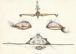 Ronald SEARLE. - Le Zoodiaque (1977) - La Balance. CPM RARE - Other Illustrators