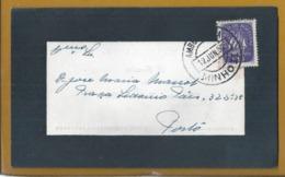 Railways Ambulance MINHO II. Mourning Letter Circulated Barroselas To Porto 1950. Trauer. Bahnen Ambulanz MINHO II. - 1910-... République
