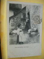 09 2691 CPA 1903 - AUTRE VUE DIFFERENTE N°7 - 09 TYPE BETHMALAIS (Hte-ARIEGE) - ANIMATION COUR DE FERME TRES GROS PLAN - Francia
