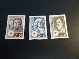 K40071 - Set - 1 Stamp Ribbed Paper  - MNH Finland - 1936-  Red Cross - Croix Rouge - Croce Rossa