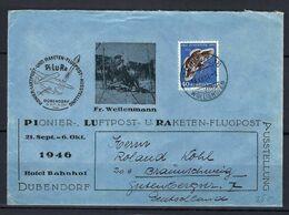 SUISSE Poste Aérienne 1951: LSC Illustrée De Zürich Pour L'Allemagne Via Dübendorf Avec Le ZNr. J142,  Obl. CAD Spéciaux - Luftpost