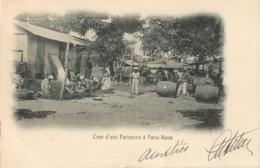 PORTO-NOVO COUR D'UNE FACTORIE DAHOMEY BENIN AFRICA TIMBRE STAMP OBLITERATION GRAND-POPO - Dahomey