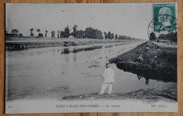 80 : Saint-Valéry-sur-Somme - Le Canal - Animée : Petite Animation - Pêcheurs à La Ligne - (n°18602) - Saint Valery Sur Somme