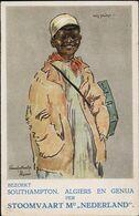 AK/CP Reklame Dampfschifflinie  Stoomvaart Maatschappij Nederland    Gel/circ.  1928   Erhaltung/Cond. 2  Nr. 01151 - Piroscafi