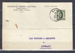 Kaart Van Moll Naar Auvelais - 1935-1949 Small Seal Of The State