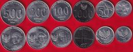 Indonesia Set Of 6 Coins: 25 - 1000 Rupiah 1994-2016 UNC - Indonesia