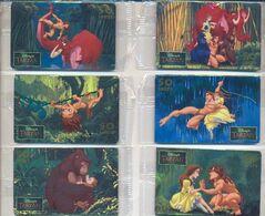 Disney's TARZAN, Italy, 6 Prepaid Phone Cards, Mint, Sealed Condition # Smtarzan - Disney