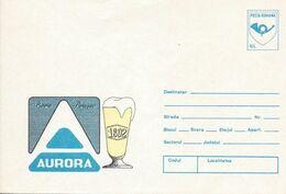 Roumanie Enveloppe, Entier Postal Thème Bière, Beer, Bier Neuve Aurora - Birre