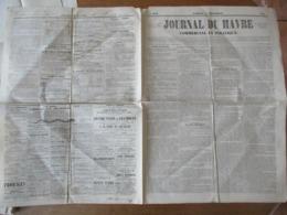 JOURNAL DU HAVRE COMMERCIAL ET POLITIQUE  DU 15 DECEMBRE 1849 CACHET ET SIGNATURE DU MAIRE DE LE HAVRE POUR LEGALISATION - Zeitungen