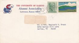 THE UNIVERSITY OF KANSAS, ALUMNI ASSOCIATION. CIRCULEE LAWRENCE A DALLAS, U.S.A.. ANNEE 1968. PERFOR COMMERCIAL -LILHU - Briefe U. Dokumente