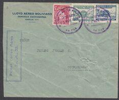 Bolivia, Scott #C8-C9, 191, Used On Cover, Map, Emblem Of Lloyd Aereo Bolivaino, Issued 1928 - Bolivia