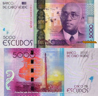 CAPE VERDE 5000 Escudos From 2014, P75, UNC - Cabo Verde