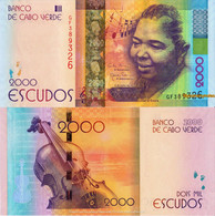 CAPE VERDE 2000 Escudos From 2014, P74, UNC - Cape Verde