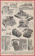 Télégraphe. Téléphone. Télégraphe De Chappe, Manipulateur De Morse, Appareil Imprimant ... Larousse 1954 - Documenti Storici