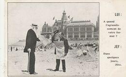 """Oostende , Ostende , ROI LEOPLOD Publicité Pour Le Journal """" La Dernière Heure """" A Quand L'agrandissement Dans Quelques - Oostende"""