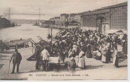 CPA Nantes - Marché De La Petite Hollande (très Belle Animation) - Nantes