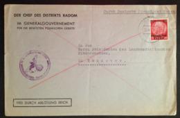 """Germany, Deutsches Reich, German Empire, OSTEN, RADOM, Used Cover, """"Dienstpost"""", 1940 - Lettres & Documents"""