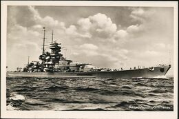 AK/CP  Kriegsmarine  Schlachtschiff  Gneisenau     Ungel/uncirc. 1933-45    Erhaltung/Cond. 1-   Nr. 01171 - Guerra