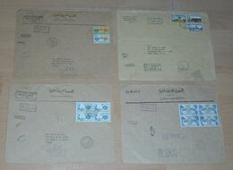 Egypt 1971 4 Registered Airmail Cover Big Size To NEW YORK - Egypt