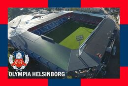 CARTE DE STADE.HELSINBORG  SUEDE  OLYMPIA # CS. 1077 - Fussball
