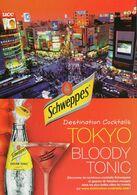 CPM - M - PUBLICITE POUR LA BOISSON SCHWEPPES BLOODY TONIC - TOKYO - Advertising