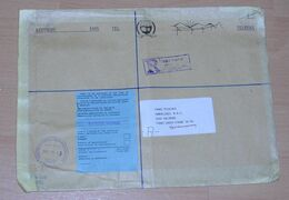 Swaziland 1997 Registered Official Big Size Cover MBABANE To SALZBURG Austria - Swaziland (1968-...)