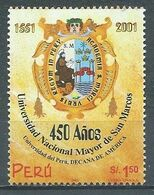 Pérou YT N°1275 Université De San Marcos Neuf ** - Peru